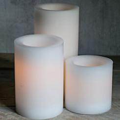 Safecandle flammeløse lys - 10cm i diameter
