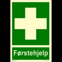 Skilt - Førstehjelpsutstyr tekst og symbol
