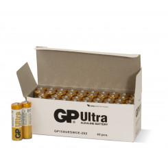GP Ultra Alkaline AA-batteri - 15AU/LR6, 2-pakk