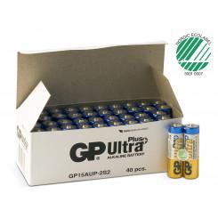 GP Ultra Plus Alkaline AA-batteri - 15AUP/LR6, 2-pakk