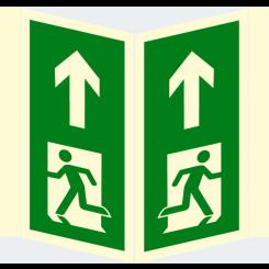Skilt - Nødutgang - plogskilt - løpende mann